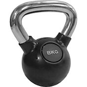 Valor Fitness 17.6 lb. (8 kg.) Chrome Kettlebell