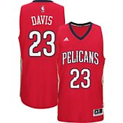 adidas Men's New Orleans Pelicans Anthony Davis #23 Alternate Red Swingman Jersey