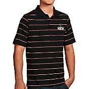 Antigua Men's Super Bowl LI Bound Atlanta Falcons Deluxe Xtra-Lite Black Polo