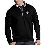 Antigua Men's Super Bowl LI Bound Atlanta Falcons Leader Quarter-Zip Black Pullover