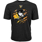 Levelwear Youth Pittsburgh Penguins Ripped Logo Black T-Shirt