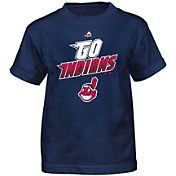 Majestic Boys' Cleveland Indians Loud Speakers Navy T-Shirt