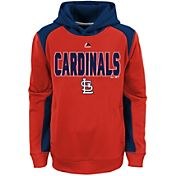 Majestic Youth St. Louis Cardinals Therma Base Geo Fuse Red Hooded Fleece