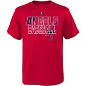 Majestic Youth Los Angeles Angels Spark Red T-Shirt