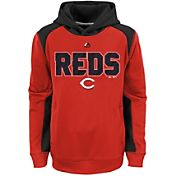 Majestic Youth Cincinnati Reds Therma Base Geo Fuse Red Hooded Fleece