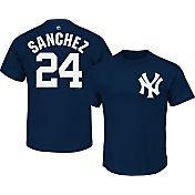 Majestic Youth New York Yankees Gary Sanchez #24 Navy T-Shirt