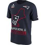 Nike Men's Super Bowl LI Bound New England Patriots State Navy T-Shirt
