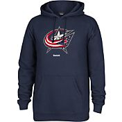 Reebok Men's Columbus Blue Jackets Navy Pullover Hoodie
