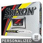 Srixon Z-STAR XV Tour Yellow Personalized Golf Balls
