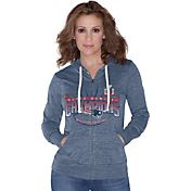 Touch by Alyssa Milano Women's Super Bowl LI Champions New England Patriots Navy Full-Zip Hoodie