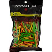 Maxfli 2.75'' Fluorescent Golf Tees – 200-Pack